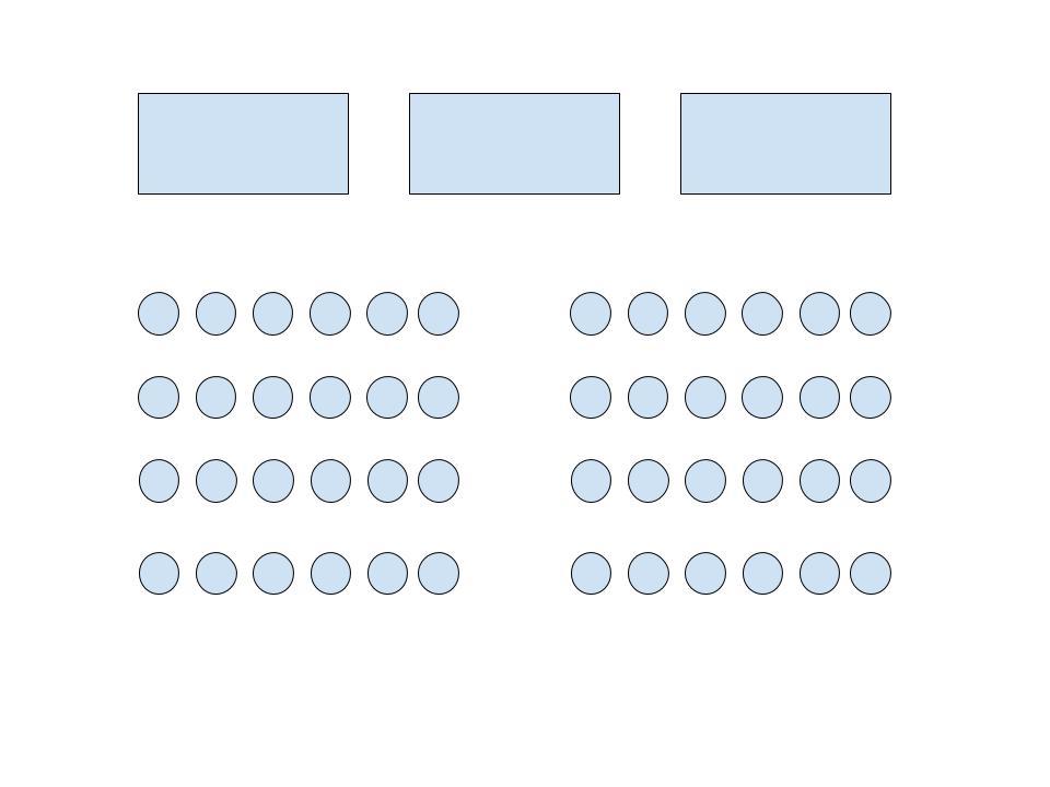 Diagram of Auditorium-style room arrangement.