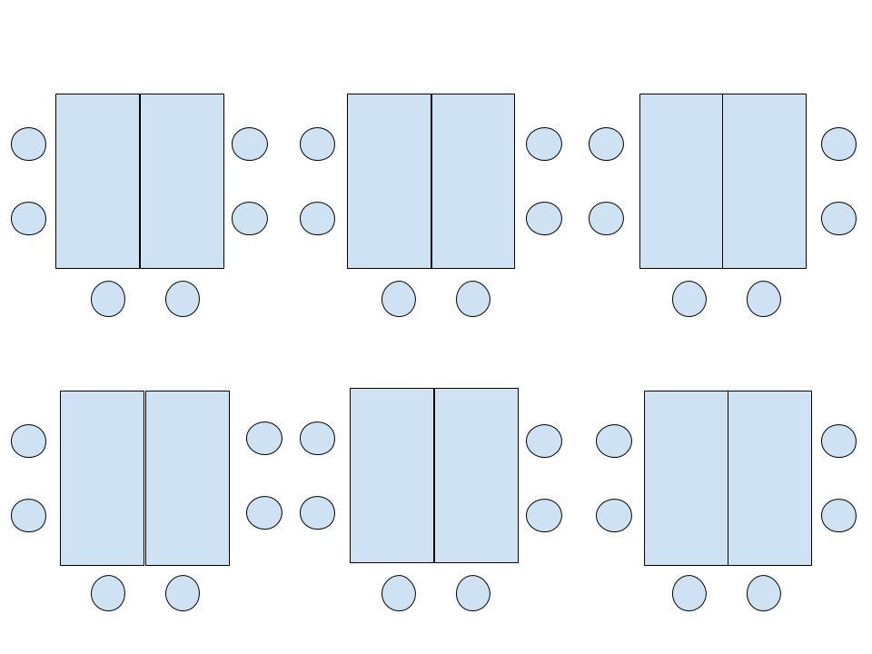 Diagram of Pods room arrangement.