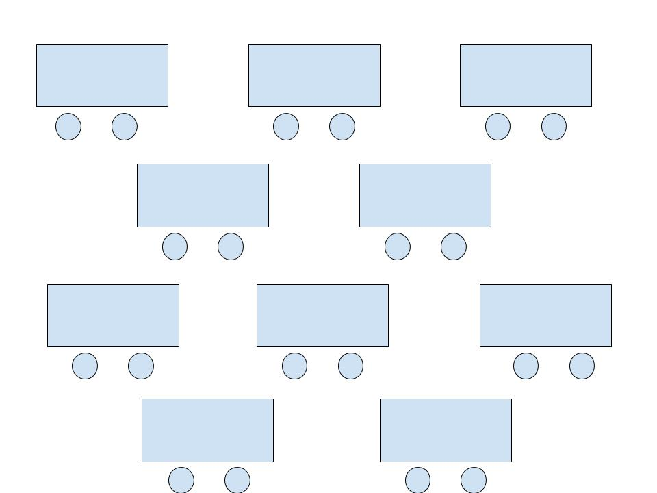 Diagram of Pairs or Paired Rows room arrangement.