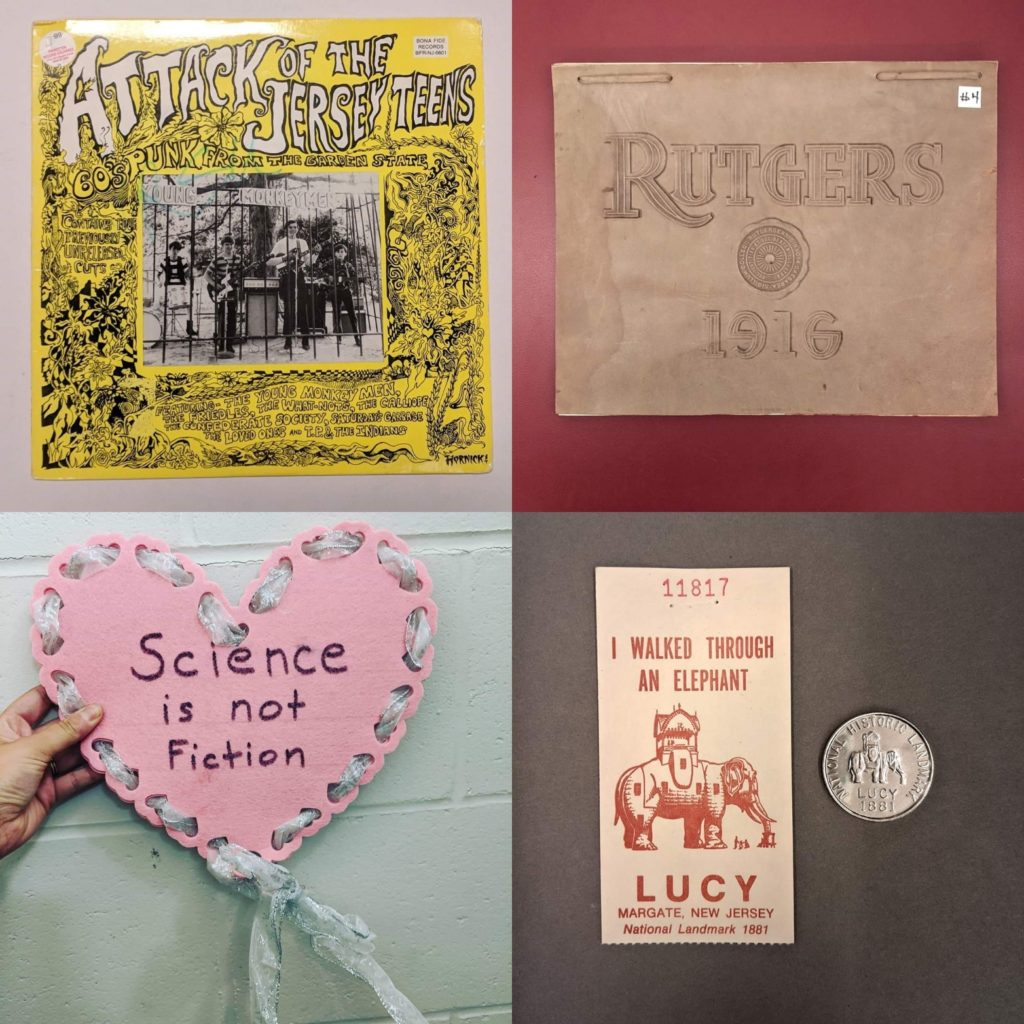 New Jersey popular culture items from Special Collections and University Archives at Rutgers University.