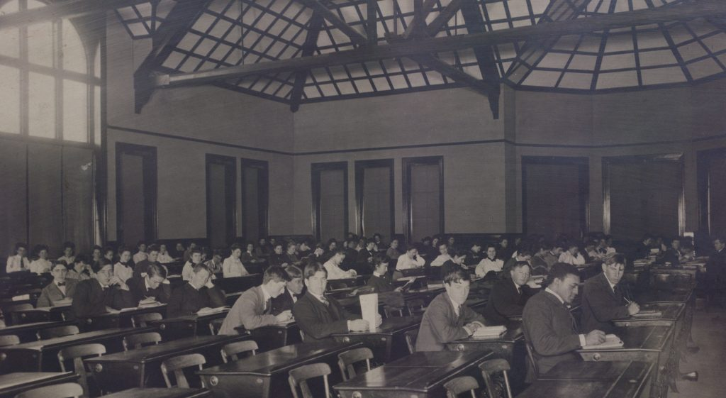 Photo of a classroom from the 1890s.
